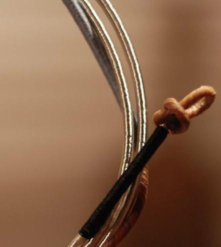 Pure Corde, Darmsaiten Knoten, silver wound gut strings